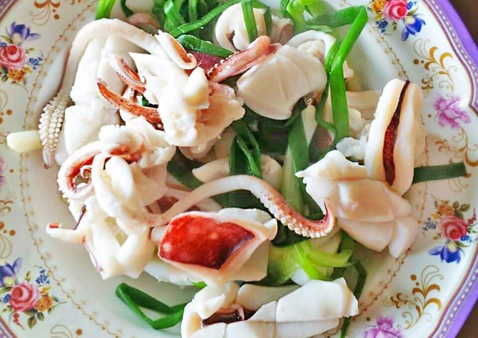Boiled squid