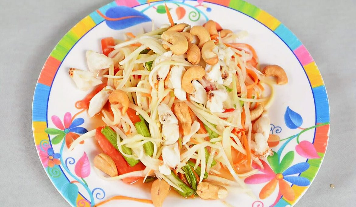 Som Tum papaya salad with blue crabmeat